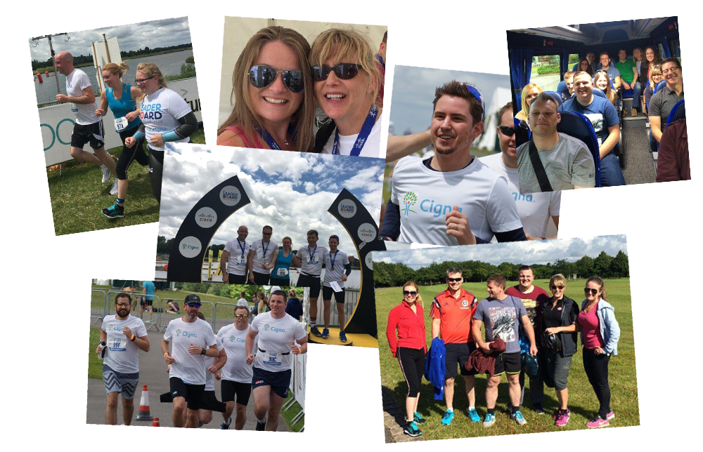 Leaderboard triathlon challenge collage photos